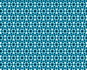 blue glowing geometric rhombic patterns on white
