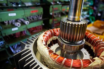 mounting electric motors, detail