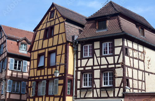 typical houses in Colmar, France