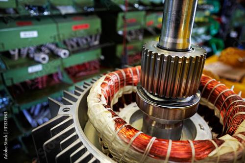 Leinwandbild Motiv mounting electric motors, detail