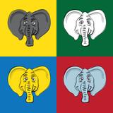 popart elephant head poster