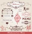éléments restaurant et menu