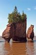 Famous Hopewell rocks at high tide, New Brunswick