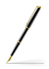 golden pen vector
