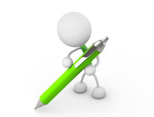 ペンを持つ