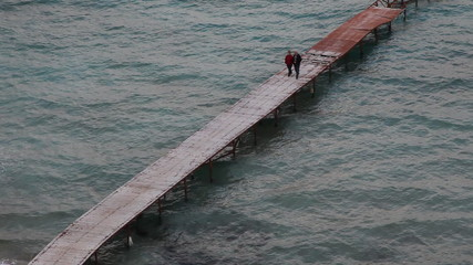 old couple at pier