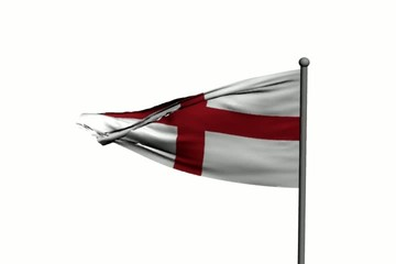 Waving English Flag