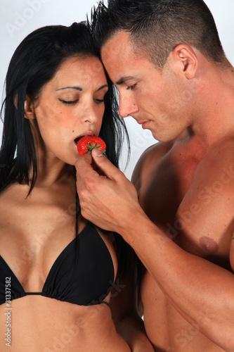 la fraise, la femme....