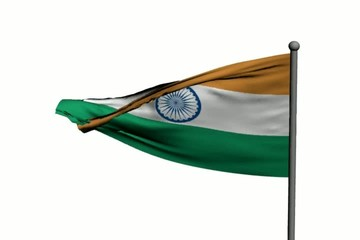 Waving flag of India