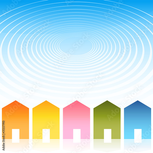 Housing Ripple Effect Background
