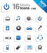 Paper Cut - Media Icons 02
