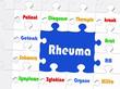 Rheuma - Konzept - Puzzle Style