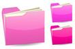 pink folder
