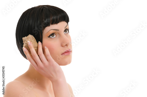 beautiful woman with shell