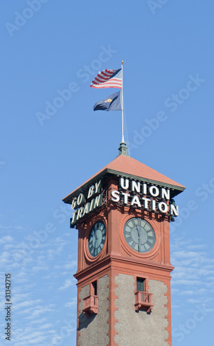 Portland Oregon Union square trainstation tower