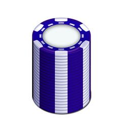 pile de jetons bleu