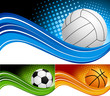 Set sport background