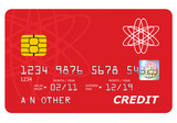 Bank credit card mock up isolated on white. poster