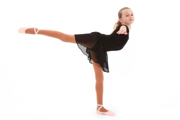Child Ballerina Dancer with Clipping Path