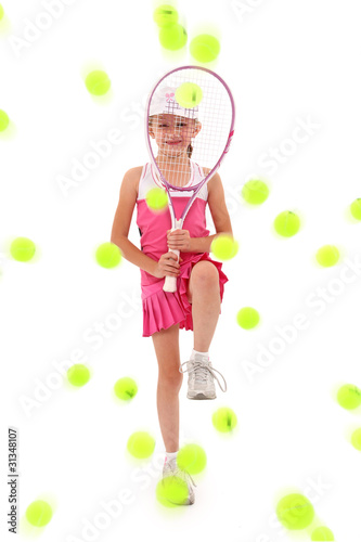 Girl Pelted with Tennis Balls