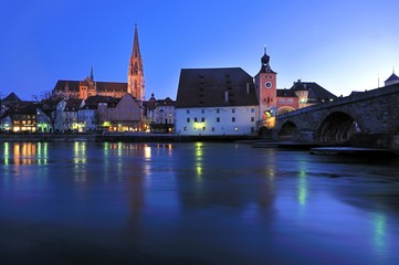 Medieval Architecture at Regensburg, Germany