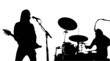 Guitarist And Drumer Musician Silhouettes Vector 02