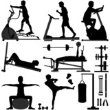 Gym Gymnasium People Sport Exercise Workout poster