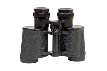Black russian military binocular, with white background