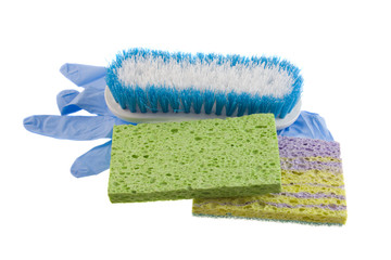 sponges brush disposable glove