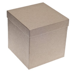 Closed Brown Paper Recycled Gift Box