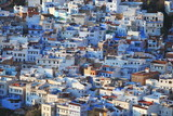 View of the town Chefchaouen in the Rif mountain in Morocco