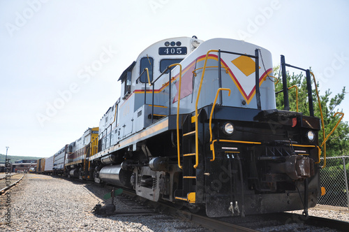 Diesel Locomotive in Scranton, PA, USA