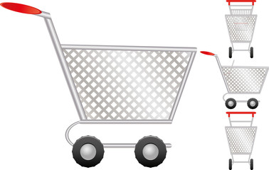 Set of shopping cart for online shop, icon for e-commerce,