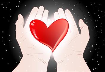 corazon en las manos