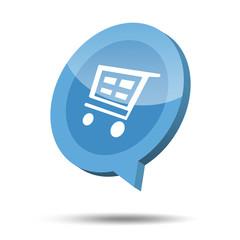 3d shopping cart icon