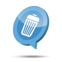 3d trash bin icon