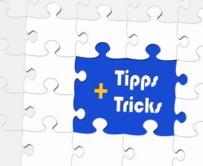Tipps + Tricks - Business Konzept - Puzzle Style