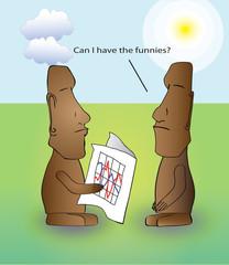 Stock broker moai with optional funny caption