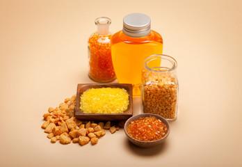 Spa minerals - orange bath salt and essential oil