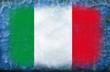 bandiera italiana vintage