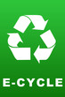 E-Cycle symbol poster