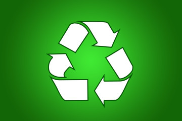 Recycle white symbol