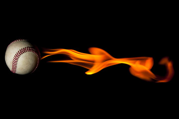 Flaming fast baseball