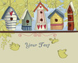 Birdhouses, Horizontal Background