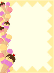 ice cream sundae page border