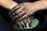 after,dirty,mechanic,hands,human,work poster
