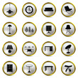 Interior Gold Icons Set