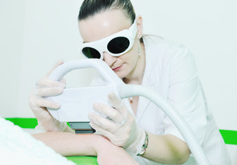 skincare and laser depilation