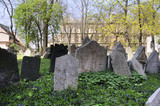 Gravestones in the Jewish Cemetery in Prague Czech Republic poster