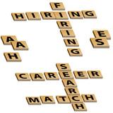 Crossword Hiring Firing Career Search Match poster